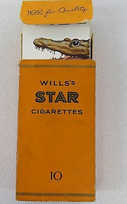 RARE, VINTAGE WILL'S STAR CIGARETTES complete set of 48 animal CARDS in BOX