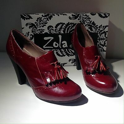 Women's Booties, Zola Collection, Cherry Red, Size 38