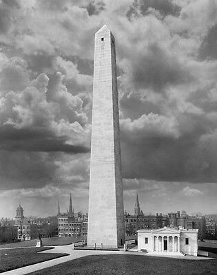 BUNKER HILL MONUMENT CHARLESTOWN MA 1900's PHOTO