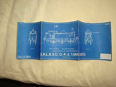 Skinley Drawing OO Scale LB&SCR 0-4-2 D1 Class  DWG 4mm (383H)