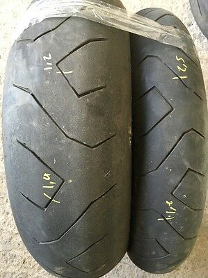 PART WORN TYRES USED MOTORCYCLE TYRES 120/70-17 180/55-17 Pirelli Supercorsa