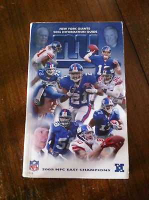 New York Giants Information Guide / Handbook  2006 (Cover Price $15)
