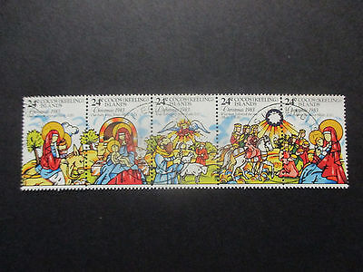 1983  Cocos   Island  Christmas  Strip  Of  5  Stamps -- Used  --A1