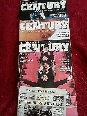 3 x The Daily Express Century Supplement Magazines May 1999 (features from 1900)