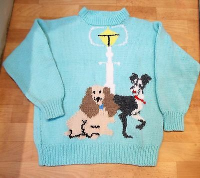Vintage Disney Lady and the Tramp Hand Made Knitted Jumper Sweater