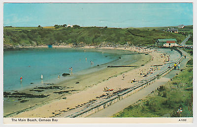 Postcard The Main Beach, Cemaes Bay Anglesey Wales. Posted 1972