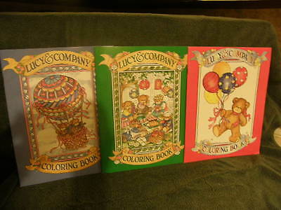 """Lucy & Me Bear -  Coloring Book Lot Of 3 - 8.5"""" X 11"""" - Brand New - Very Rare"""