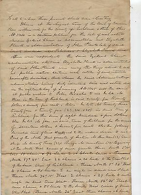 1846 CHEW PLUNK BROACHE Family Richland County Ohio Shiloh Property Court Papers
