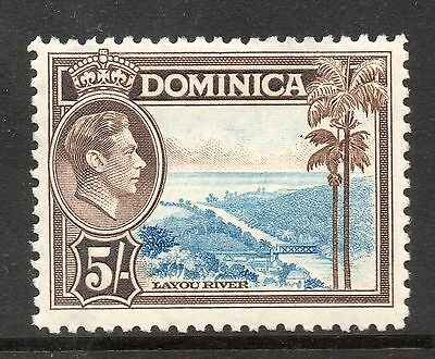 Dominica 1938-47 George Vi Sg108 5/- Light Blue & Sepia Lightly Mounted Mint