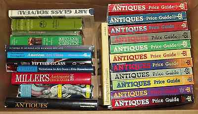 37 Reference Books on Antiques-Price Guides,Art Glass,Fine Art,Chinese Ceramics+