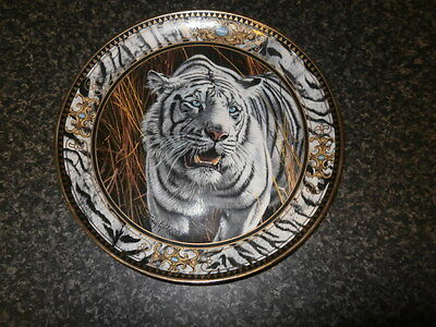Royal Doulton Plate Prowl Of The Tiger By Anthony Gibbs Franklin Mint Heirloom