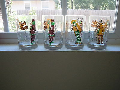 Vintage Mardi Gras Glasses Phyllis Malczk Weitzel Old New Orleans Glass Signed