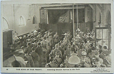 POSTCARDS.WW1.DAILY MAIL WAR PICTURES.SERIES XII.No93.THE KING AT THE FRONT.1916