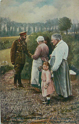 POSTCARDS.WW1.DAILY MAIL WAR PICTURES.SERIES XI.No83.THE KING AT THE FRONT.
