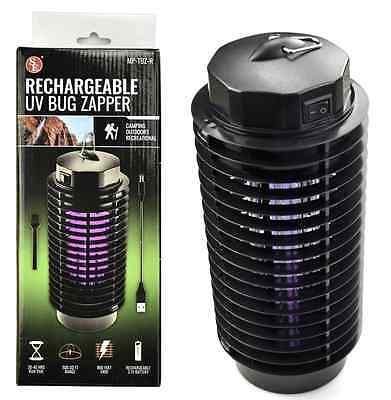 Cordless Rechargeable UV Bug Zapper Camping Insect Repellent Device