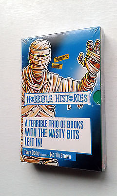 Horrible Histories Boxset Of 3 Books By Terry Deary New Were £17.97 Uk Post Free