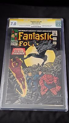 Fantastic Four #52 - Marvel Comics - CGC 7.0 Signature Series Signed By Stan Lee