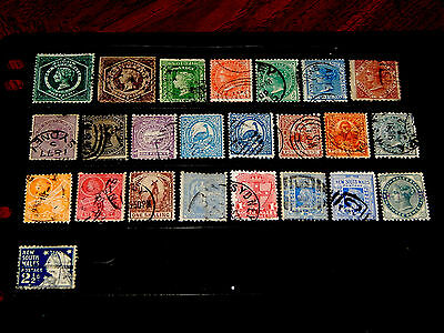 New South Wales stamps - 24 used early stamps - nice group !!