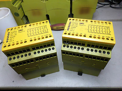 PILZ SAFETY RELAY PNOZ 11 Qty of 2 - 774080 - 24AC/DC 7 x Safe Contacts 1 x Aux