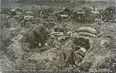 POSTCARDS.WW1.DAILY MAIL WAR PICTURES.SERIES X.No77.BLUE PRINT.TOMMY'S IN HOLES!