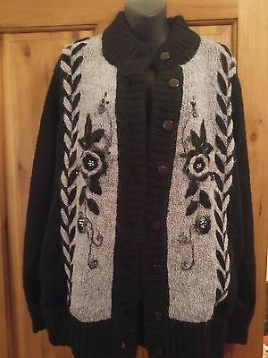Lovely Ladies Mohair Cardigan Size 16