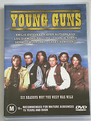 YOUNG GUNS Six Reasons Why The West Was Wild - Story of Billy The Kid - DVD