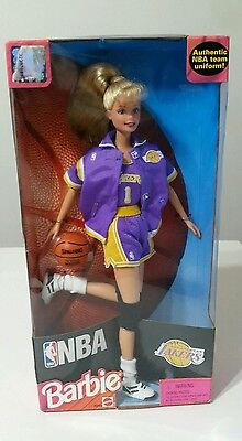98 NBA Los Angeles LA Lakers Barbie Mattel Girls Doll Basketball Authentic