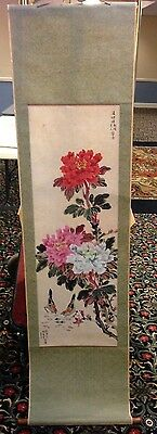 """67"""" Chinese Scroll Painting by Lih-Shoue Shih, of Taipei, Taiwan -- a Gift"""