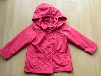GAP GIRLS AGE 4 YEARS PINK HOODED RAIN COAT, fleece lining