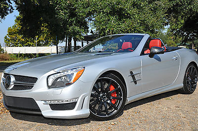 "2013 Mercedes-Benz SL-Class FULL DESIGNO RED/BLACK LEATHER,EXT/INT CARBON,P30  2013.8 SL63""S"" P30 AMG,$177 MSRP,DESIGNO,FULL CARBON,RADAR CRUISE,PANO,AMG+"