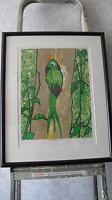 Leia Bell The Resplendent Quetzal Signed Numbered Limited Edition Framed Print