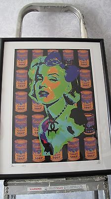Monroe Warhol Soup Cans Pop Art Death Signed & Numbered Limited Edition Framed