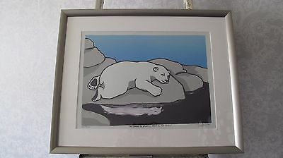 Leia Bell Sleeping Polar Bear Signed & Numbered Limited Edition Framed Sold Out