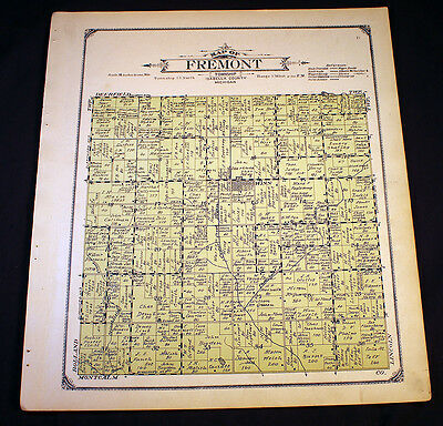 Fremont Township Isabella County Michigan 1915 Plat Map