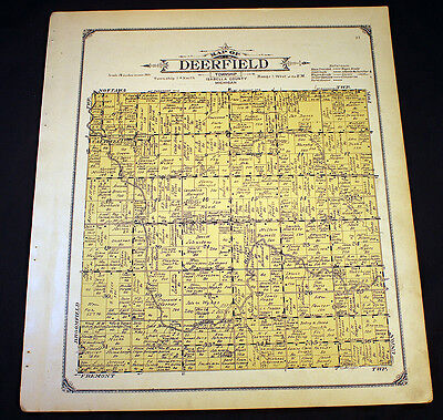 Deerfield Township Isabella County Michigan 1915 Plat Map