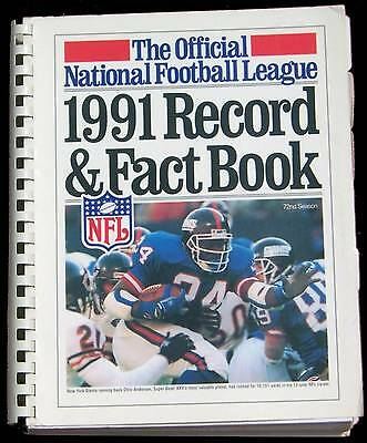 1991 National Football League Record & Fact Book  Nfl - Giants Anderson On Cover
