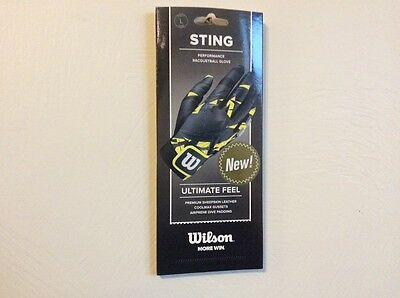 Three new Wilson Sting performance racquetball gloves, right hand, size Large