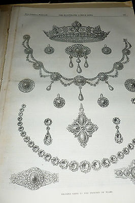 Brussels Lace Jewels Pin St Georges Chapel Victorian Antique Print