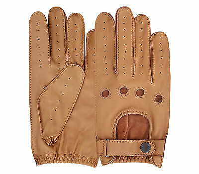 Men's Driving Gloves Chauffeur Lambskin Leather Glove Dress Fashion Slim Fit