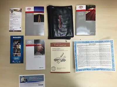 Toyota Tacoma  2015  Owners Manual Book Set/  /In  Case // Free Shipping