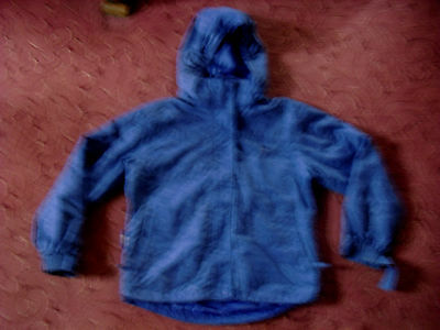 Girls Kids blue hooded coat jacket age 9-10 years