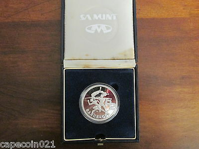 Silver Proof R2 South Africa Commemmorating Barcelona Olympics 1992