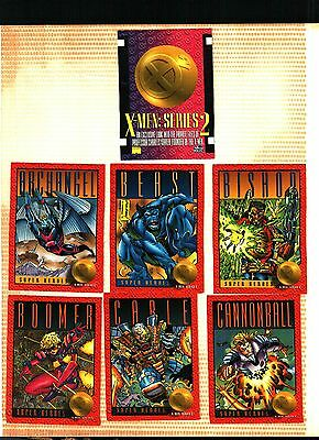 1993 Skybox Marvel X-MEN Series 2 Complete Card Set Ex. to Near Mint Condition