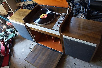 vintage JH record player unit with speakers
