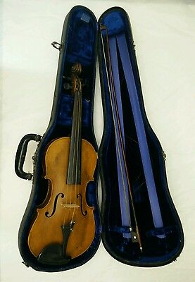Very nice old antique violin Joh. Strauss Jr Wien. with Geib Case and Bow