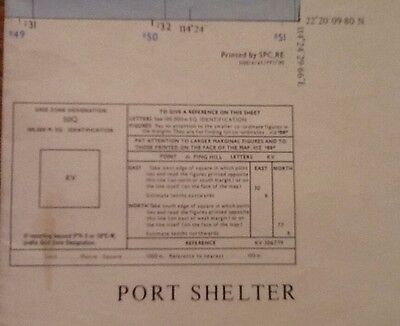 Hong Kong Area Topographical Map - Port Shelter 1958