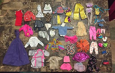 Large Lot Of Barbie & Ken & Same Size Doll Clothes Accessories