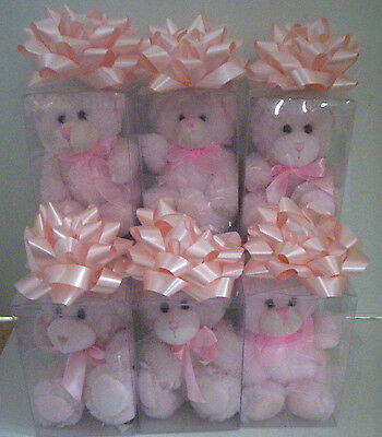 It's A Girl Bears In Gift Box, Pink, 6 Pieces , Brand New
