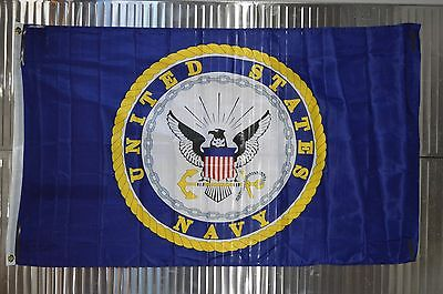 """New 1"""" Heavy Duty PVC Flag Pole Kit with Navy Flag for Camping, RVing etc."""