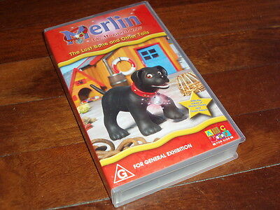 Vhs Video Tape - Abc For Kids Merlin The Lost Bone And Other Tails